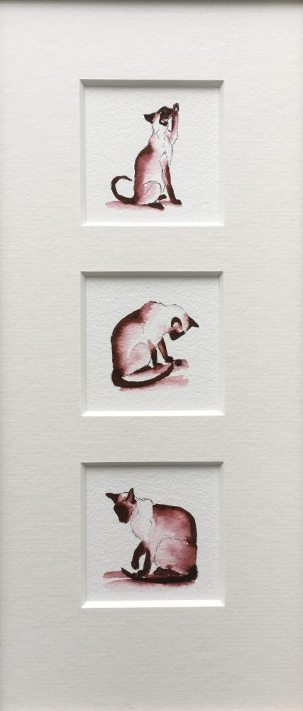 Essence of Siamese III framed originals