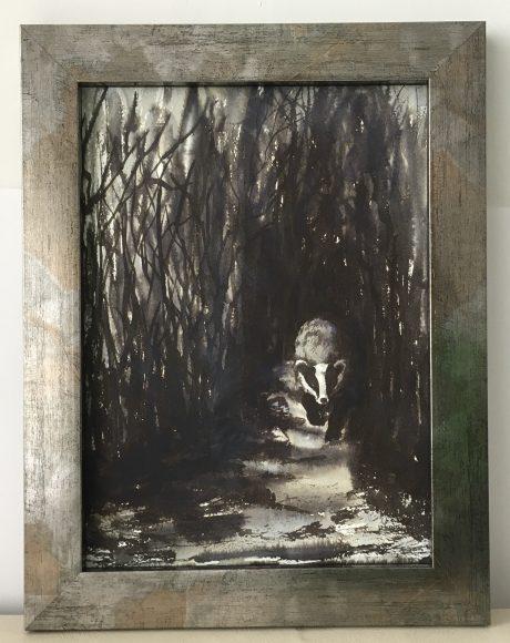 Framed original painting for sale